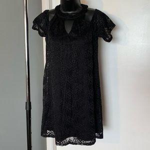 like new Blue Rain black lace v neck dress (6/$14)